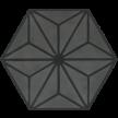 600661 - ø 16,0 x 1,6 cm - Sechseckplatte Standardsortiment