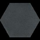 760060 - ø 20 cm - Terrazzoplatte Sechseckplatte Uni schwarz
