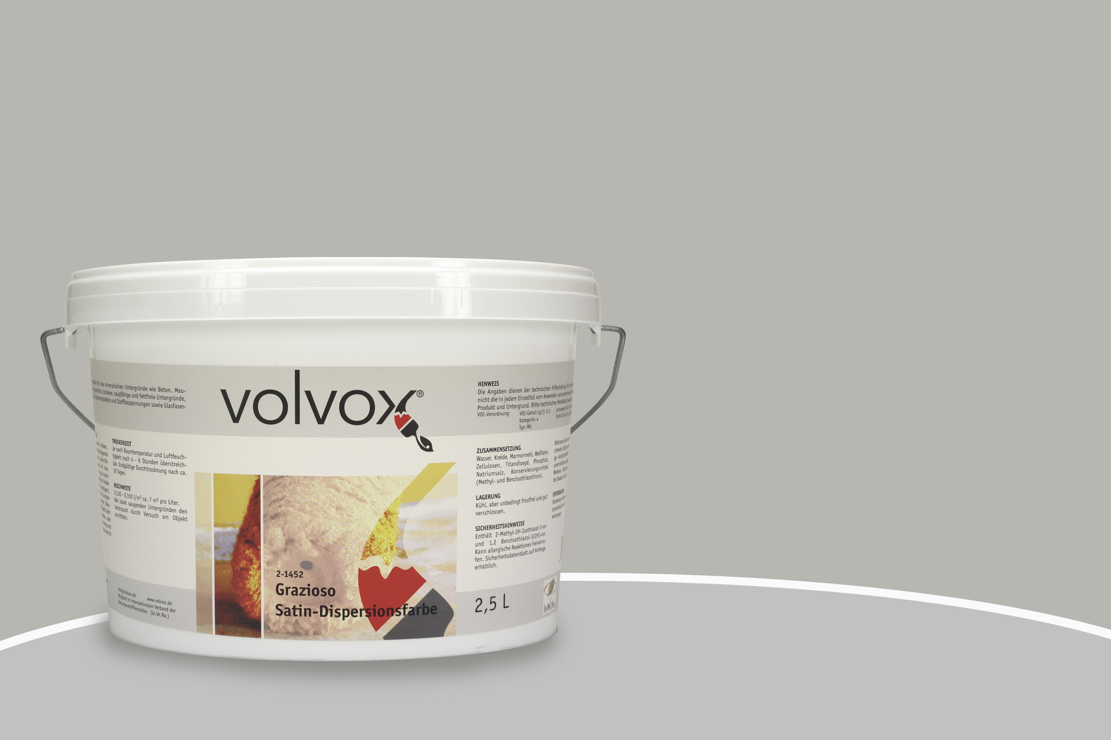 volvox grazioso satin-dispersionsfarbe calcit | naturanum