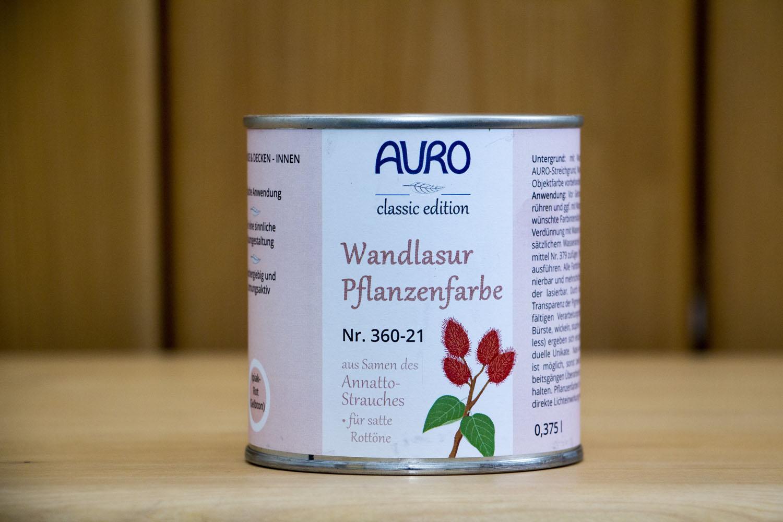 auro wandlasur-pflanzenfarbe nr. 360 ipiak-rot | naturanum