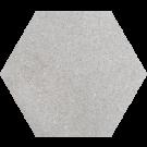 760052 - ø 20 cm - Terrazzoplatte Sechseckplatte Uni grau