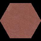 760032 - ø 20 cm - Terrazzoplatte Sechseckplatte Uni rot